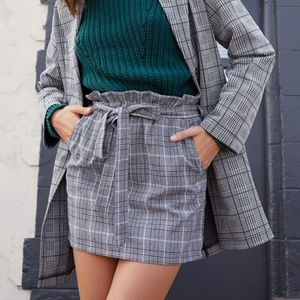 Kendall and Kylie plaid skirt